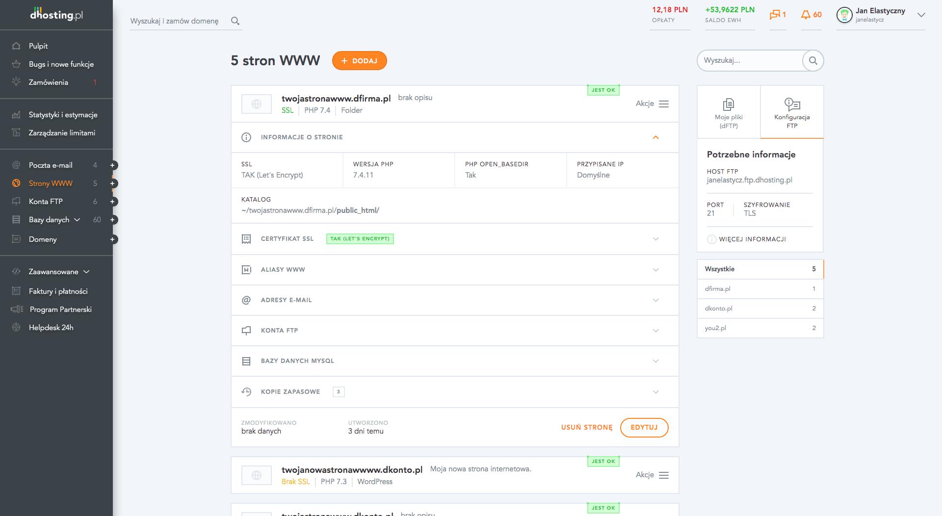 Lista stron WWW