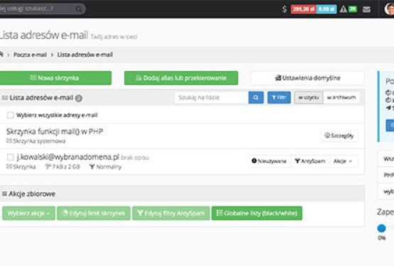 Zarządzanie pocztą e-mail po nowemu w dPanelu