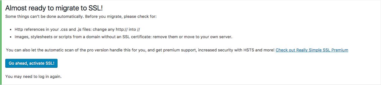 really simple ssl aktywacja