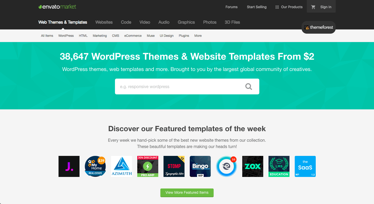 themeforest motywy wordpress