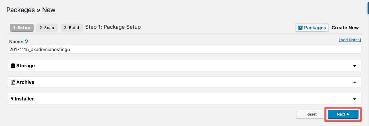 duplicator new package