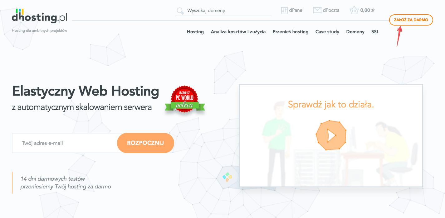 elastyczny web hosting załóż za darmo