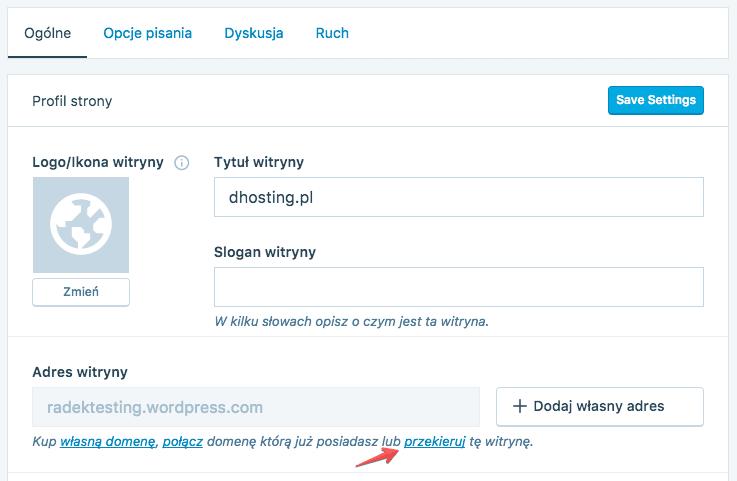 redirect 301 wordpress.com
