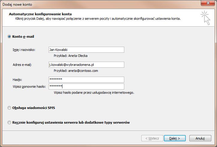 konfiguracja użytkownika