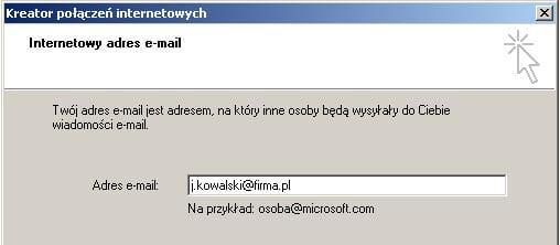 podawanie adresu e-mail