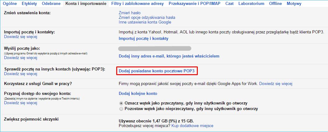 gmail pop3