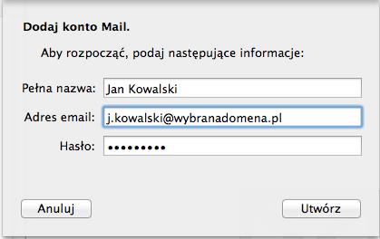 dodaj konto mail