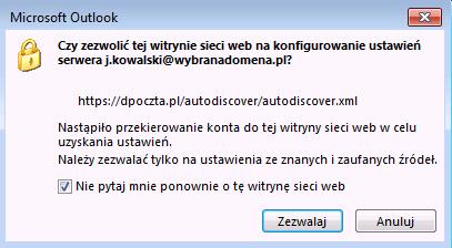 zezwolenie na pobranie ustawień z serwera