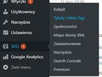 tytuły i meta tagi
