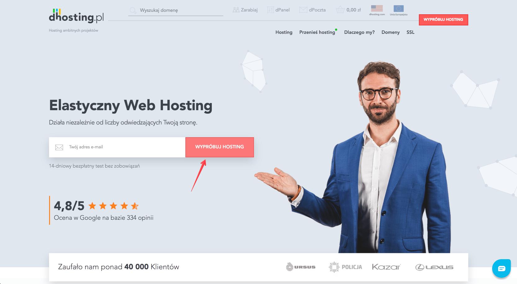dhosting.pl wypróbuj hosting